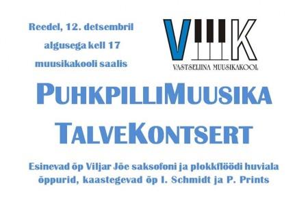 2014 puhkpillimuusika talvekontsert