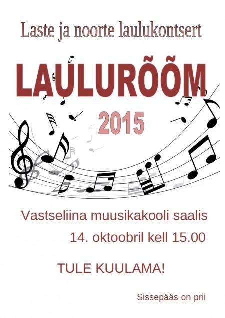 2015 Lauluroom
