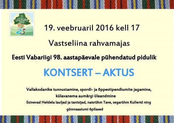 2016 EV 98.kuulutus